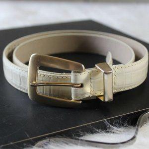 Vintage ELITE Women's Belt L FRESNO CA Pearlized E